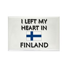 I Left My Heart In Finland Rectangle Magnet