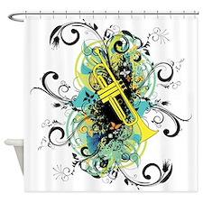 Swirl Trumpet Shower Curtain
