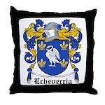 Echeverria Coat of Arms Throw Pillow