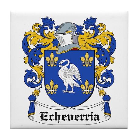 Echeverria Coat of Arms Tile Coaster