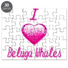 I Love/Heart Beluga Whales Puzzle