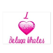 I Love/Heart Beluga Whales Postcards (Package of 8