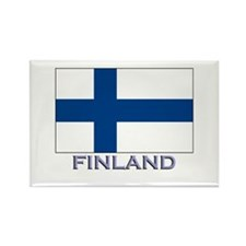 Finland Flag Gear Rectangle Magnet