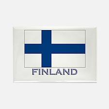 Finland Flag Gear Rectangle Magnet