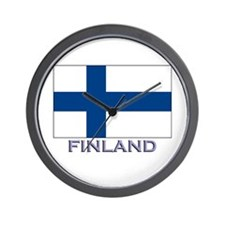 Finland Flag Gear Wall Clock
