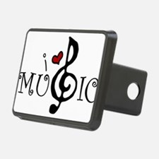 I Love Music Hitch Cover