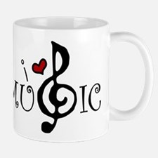 I Love Music Small Small Mug