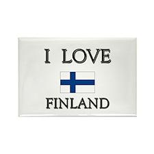 I Love Finland Rectangle Magnet