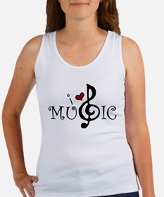 I Love Music Women's Tank Top