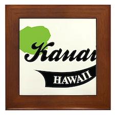 Kauai Hawaii Framed Tile