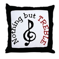 Nothing But Treble Throw Pillow