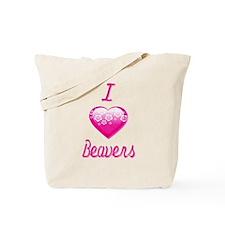 I Love/Heart Beavers Tote Bag