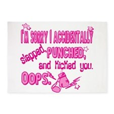 Im sorry I punched you pink.png 5'x7'Area Rug