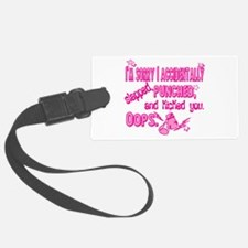 Im sorry I punched you pink.png Luggage Tag