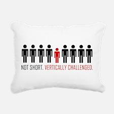 Vertically Challenged Rectangular Canvas Pillow
