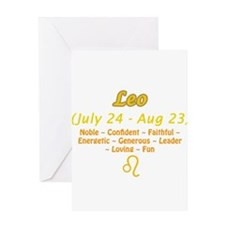 Leo Description Greeting Card