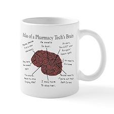 Atlas of a pharmacy techs brain Mugs
