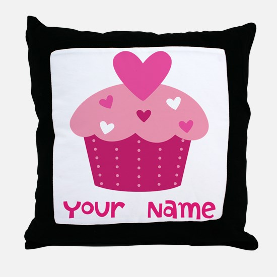 Personalized Cupcake Throw Pillow