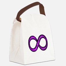 Purple Infinity Symbol Canvas Lunch Bag