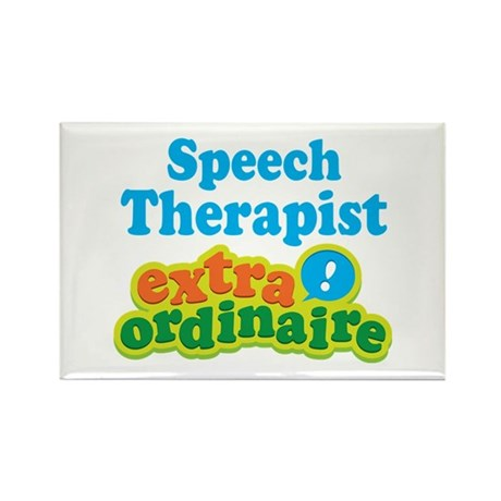 Speech Therapist Extraordinaire Rectangle Magnet (