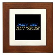 Make Trek Not Wars Framed Tile