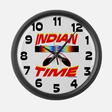 NATIVE AMERICAN CLOCK Large Wall Clock