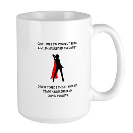 Therapist SUperheroine copy Mugs