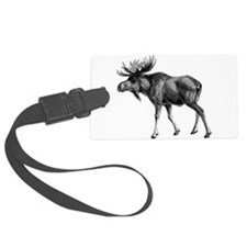 Vintage Moose Luggage Tag