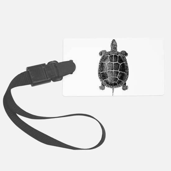 Vintage Turtle Luggage Tag