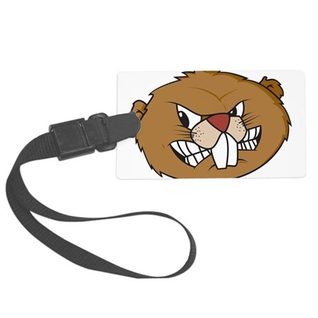 Beaver Face Large Luggage Tag