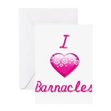 I Love/Heart Barnacles Greeting Card