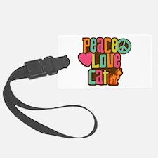 Peace Love Cat Luggage Tag