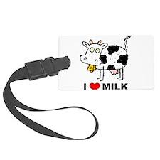 I Love Milk Luggage Tag