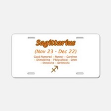 Sagittarius Description Aluminum License Plate