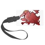 Red Dragon Large Luggage Tag