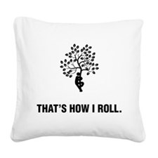 Tree Hugging Square Canvas Pillow