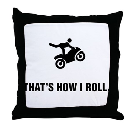 Stunt Riding Throw Pillow
