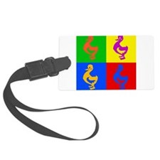 Pop Art Duck Large Luggage Tag