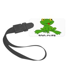 Too Cute Frog Luggage Tag