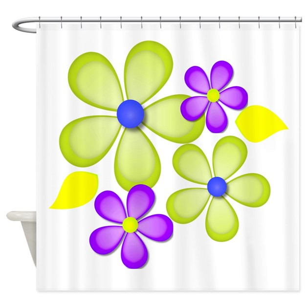 Purple And Green Shower Curtain By Glamourgirls2