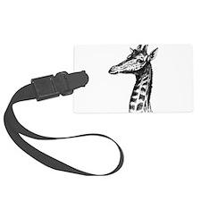 Hand Drawn Giraffe Luggage Tag
