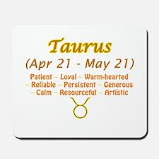Taurus Description Mousepad