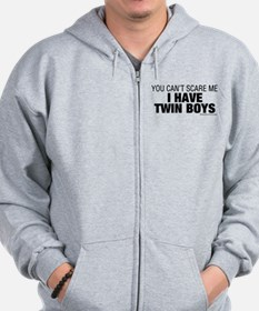 Cant Scare Have Twin Boys Zip Hoodie