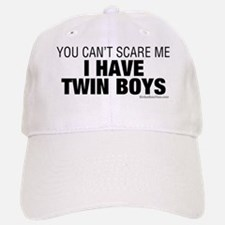 Cant Scare Have Twin Boys Baseball Baseball Cap
