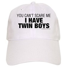 Cant Scare Have Twin Boys Baseball Cap