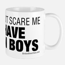 Cant Scare Have Twin Boys Mug