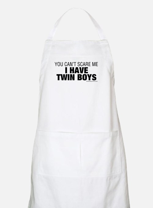 Cant Scare Have Twin Boys Apron