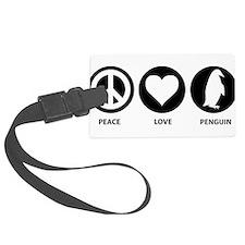 Peace Love Penguin Luggage Tag