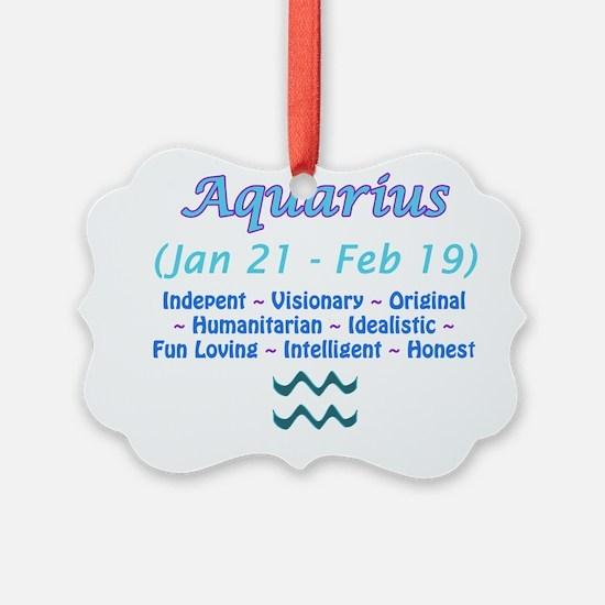 Aquarius Description Ornament