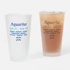Aquarius Description Drinking Glass